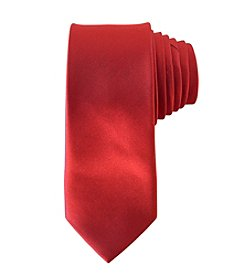 Calvin Klein Boys' Red Silk Tie