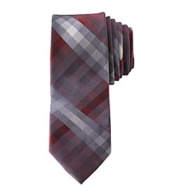 Calvin Klein Boys' Plaid Print Tie