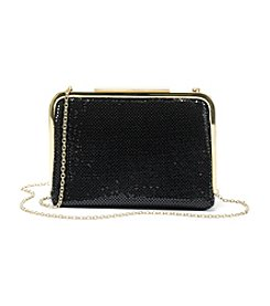 La Regale® Black Mesh Frame Clutch