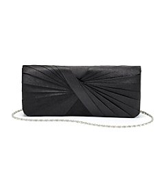 La Regale® Black Twist Pleat Clutch