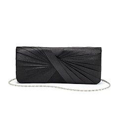 La Regale® Black Twist Pleat Clutch