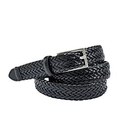 Fashion Focus Black/Silver Braided Leather Belt