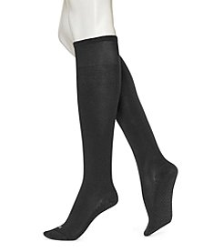 HUE® Black Massaging Sole Knee Socks