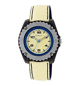 Sprout® Blue Accented Khaki Organic Cotton Strap Watch