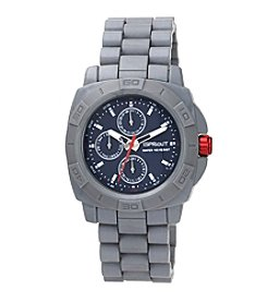 Sprout® Multi-Function Bamboo Dial Grey Corn Resin Bracelet Watch