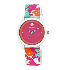 Sprout® Pink Dial Multicolor Camouflage Organic Strap Watch