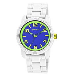 Sprout® Blue Dial White Corn Resin Bracelet Watch