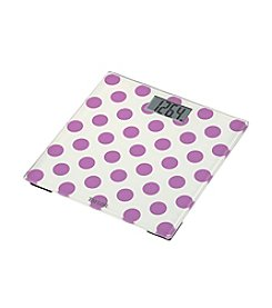 Taylor Purple Polka Dot Glass Scale