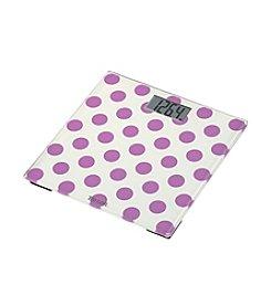 Taylor Purple Polka Dot Glass Scale