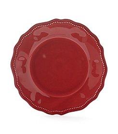 LivingQuarters Melamine Red Dinner Plate