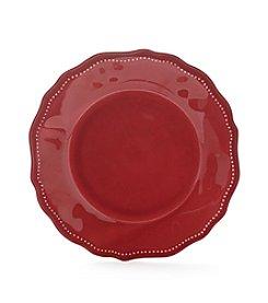 LivingQuarters Melamine Red Salad Plate