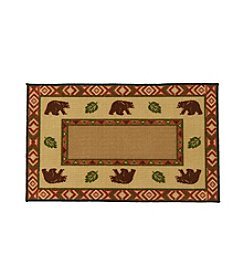 Nourison Bear Border Accent Rug