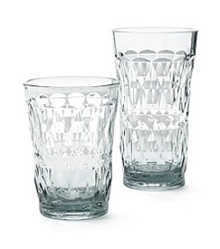 LivingQuarters Tropical Diamond Clear Glass