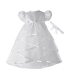 Lauren Madison® Baby Girls' Sheer Taffeta Christening Dress