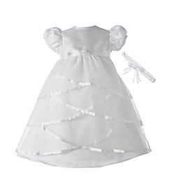 Lauren Madison® Baby Girls' Sheer Taffeta Christening Dress
