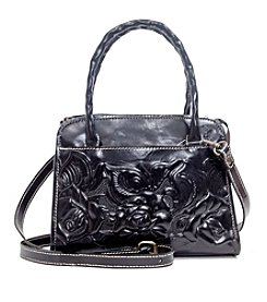 Patricia Nash Paris Tooled Rose Satchel