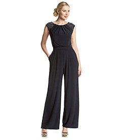 Jessica Howard® Beaded Cap Sleeve Jumpsuit