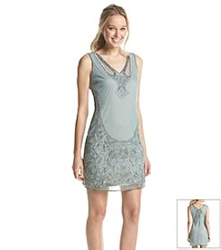 Adrianna Papell® Shift Beaded Cocktail Dress