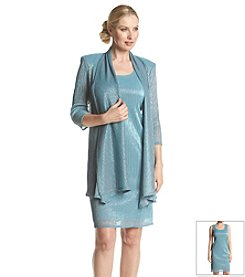R&M Richards® Crinkle Knit Jacket Dress