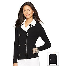 Lauren Ralph Lauren® Petites' Double-Breasted Sweater Jacket