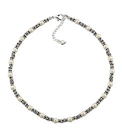 Carolee® The Joanna White Pearl Rondelle Necklace
