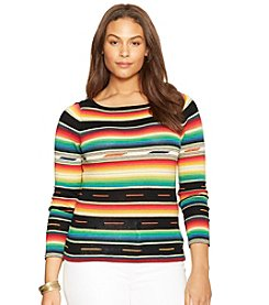 Lauren Ralph Lauren® Plus Size Long-Sleeved Serape Sweater