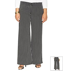 Lauren Ralph Lauren® Plus Size Striped Wide-Leg Pants