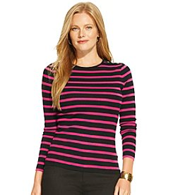 Lauren Ralph Lauren® Plus Size Striped Buttoned-Shoulder Shirt