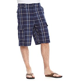 Ruff Hewn Men's Plaid Cargo Short