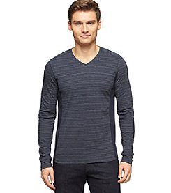 Calvin Klein Men's Long Sleeve Varigated Stripe Tee
