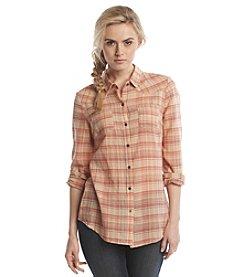 Ruff Hewn Plaid Gauze Western Shirt