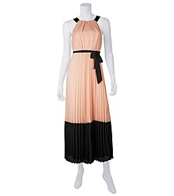 A. Byer Colorblock Pleated Maxi Dress