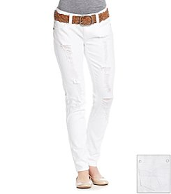 Wallflower® White Destructed Skinny Jeans