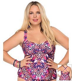 Becca® Plus Size Cathedral Tankini Swim Top