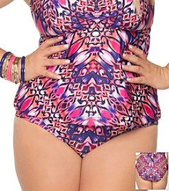 Becca® Plus Size Cathedral Hipster Swim Bottoms