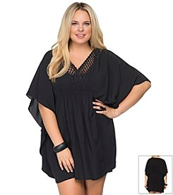 Becca® Plus Size It Girl Poncho Coverup