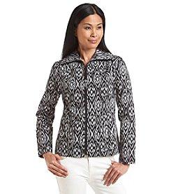 Studio Works® Petites' Ikat Print Twill Sport Jacket