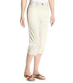 Studio Works® Solid Twill No-Gap Cropped Pants