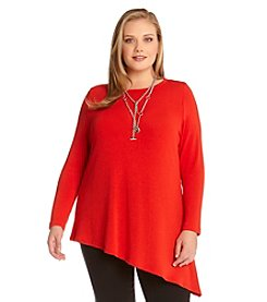 Karen Kane® Plus Size Asymmetrical Knit Top