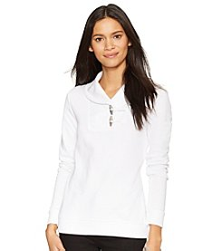Lauren Ralph Lauren® Shawl-Collar Cotton Pullover
