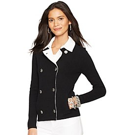 Lauren Ralph Lauren® Double-Breasted Sweater Jacket