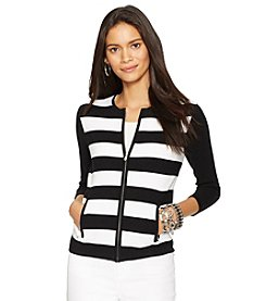 Lauren Ralph Lauren® Striped Full-Zip Cardigan