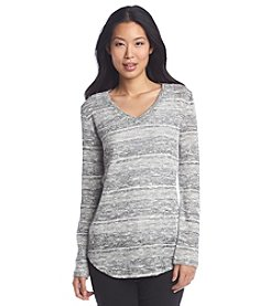 Chaus V-Neck Lurex Sweater
