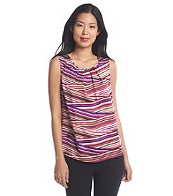 Nine West® Pleated Front Stripe Cami