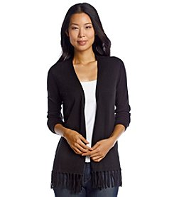Chaus Open Front Cardigan