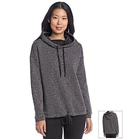 Chaus Tie Waist Hooded Sweater