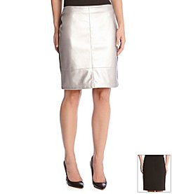 Karen Kane® Faux Leather Skirt