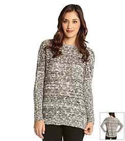Karen Kane® Sequin Open Knit Sweater
