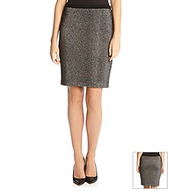 Karen Kane® Metallic Knit Pencil Skirt