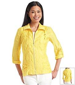 Laura Ashley® Crinkle Zip Jacket